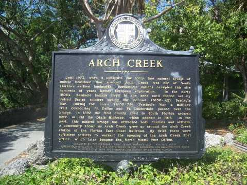 Arch Creek Park and Museum