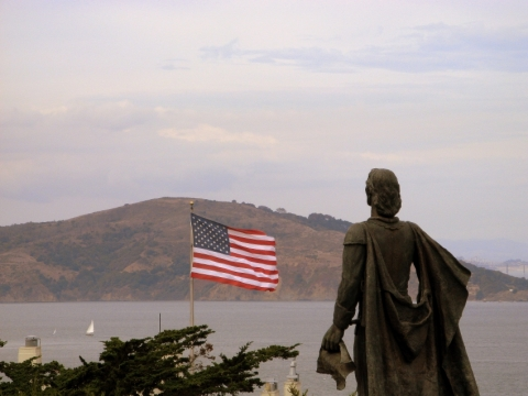Christopher Columbus Statue-  Pioneer Park